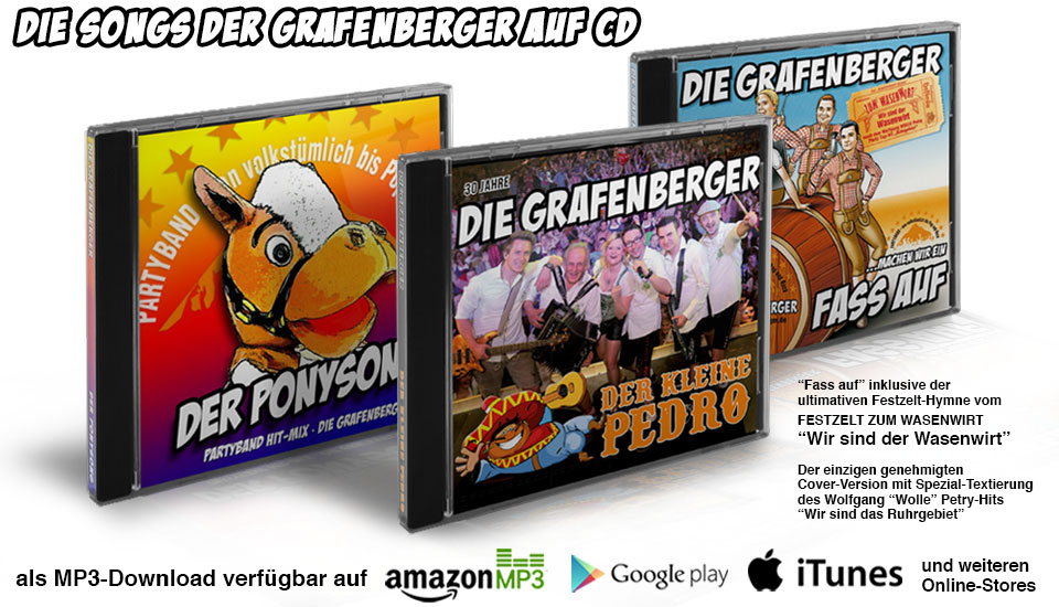 Partyband Die Grafenberger - Releases